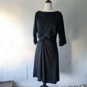 Yves Saint Laurent Beaded Silk Midi Dress